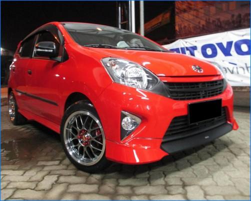 Modifikasi Mobil Agya Terbaru Trd Tipe G Warna Merah Silver Putih