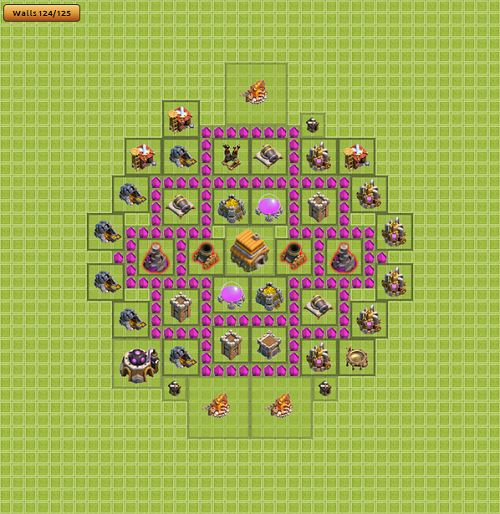 Clash of Clans Town Hall 6 Tropi Type 2