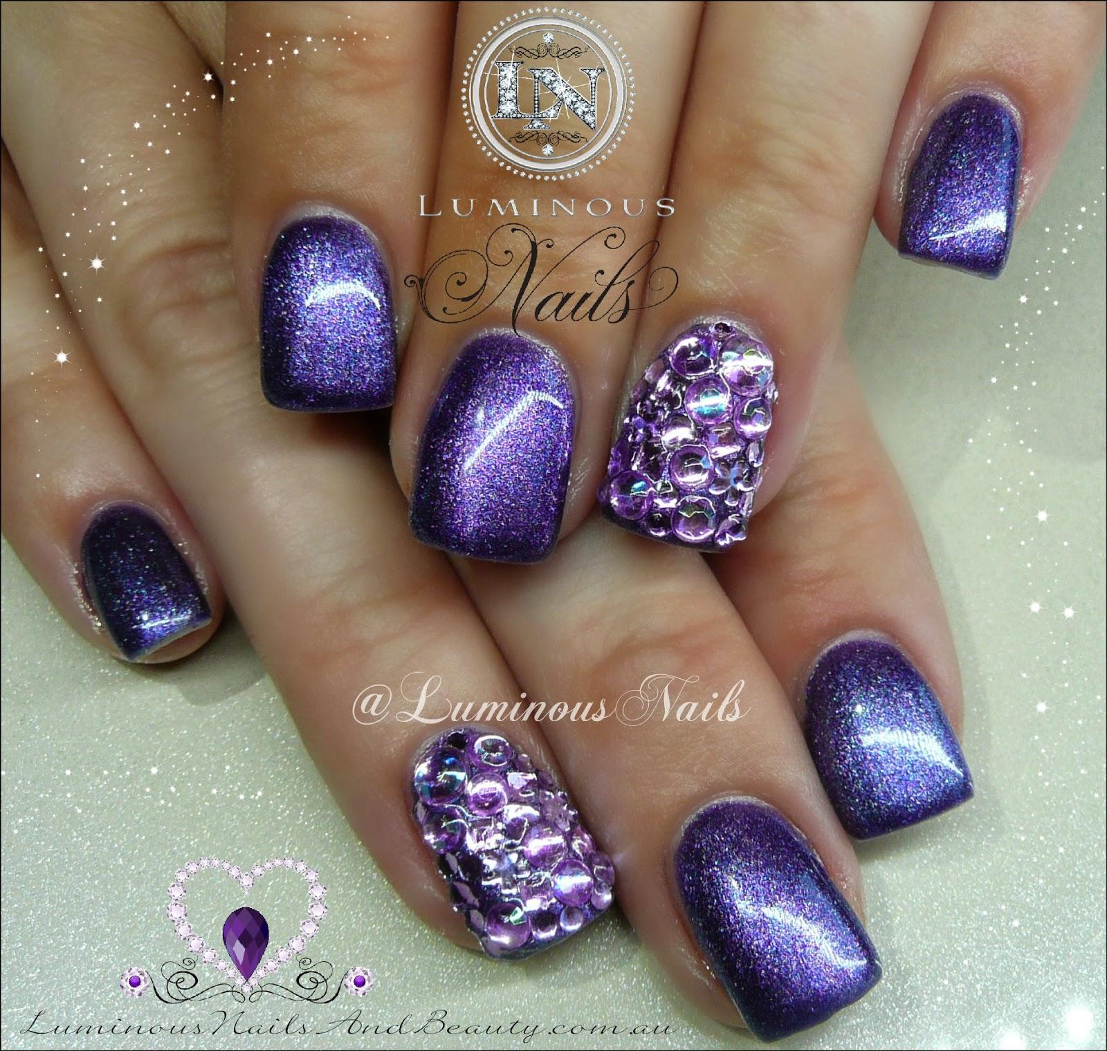 Acrylic Nails Diamond Long