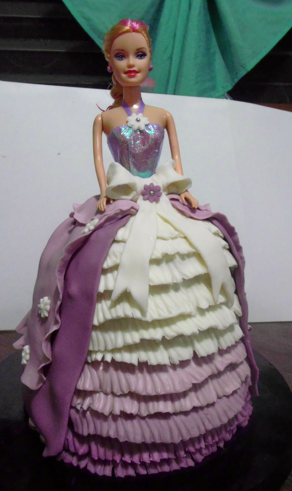 Rosie S Delights My First Ever Barbie Doll Fondant Cake
