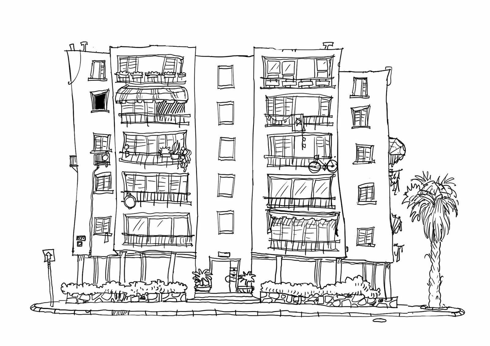 Awesome Apartment Building Coloring Pages Pictures Inspiration ...