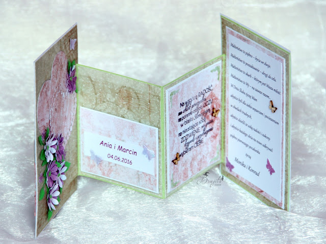 kartka w pudełku, ślubny komplet, życzenia dla młodych z okazji ślubu, prezent na ślub, jak podarować pieniądze na ślub
