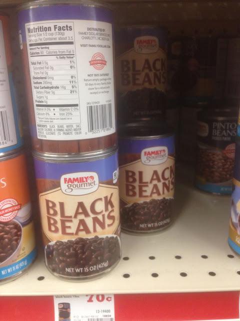 Black Beans, Family Gourmet - Family Dollar