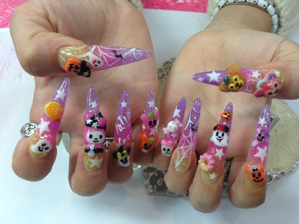 halloween gyaru nails