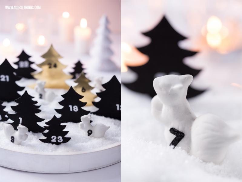 Schneelandschaft Adventskalender Kunstschnee