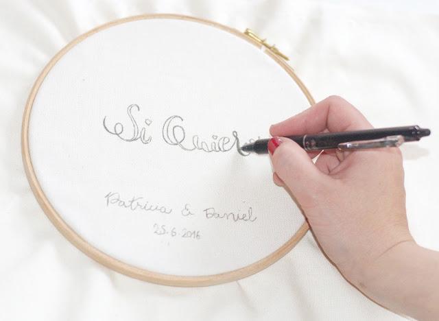 Lettering sobre tela