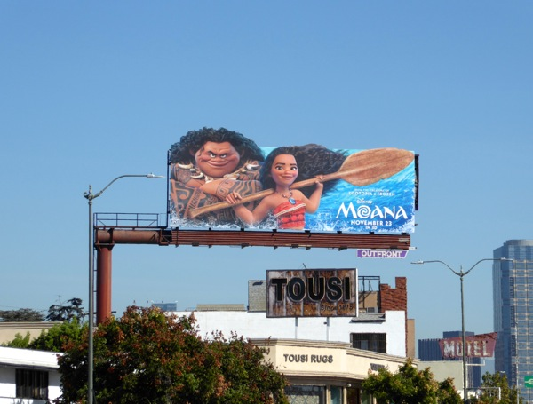 Moana movie special extension billboard