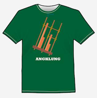 angklung t-shirt design