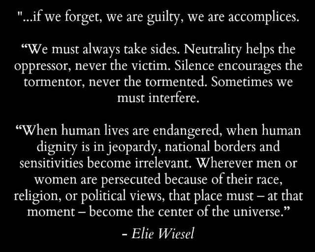 an analysis of elie wiesels nobel peace prize acceptance speech Holocaust survivor, nobel laureate and author elie wiesel has died at the age of 87 wiesel survived the world war ii nazi concentration camp of buchenwald and death camp of auschwitz after.