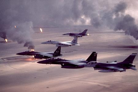 Kuwaiti oil fields on fire