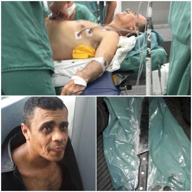 Jair Bolsonaro levou uma facada na região da barriga durante um ato de campanha em Juiz de Fora