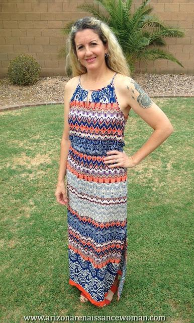 Renee C Cassandra Maxi Dress - Stitch Fix #22 Review - June/July 2016