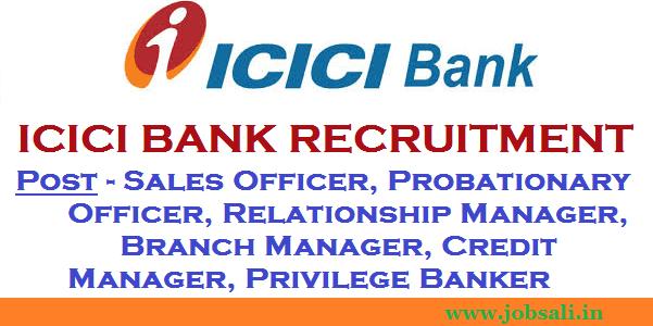 ICICI Bank Career, Bank PO Officer, ICICI Bank job openings