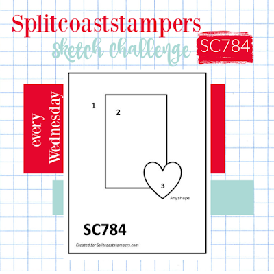 Splitcoaststampers Card Sketch Challenge 784