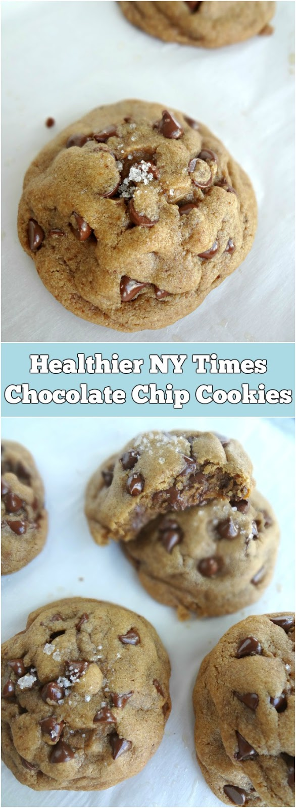 Healthier NY Times Chocolate Chip Cookies
