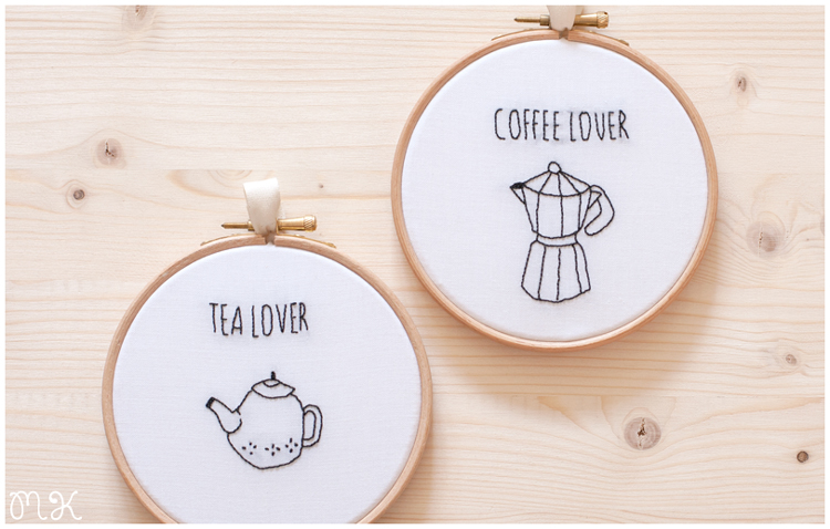 Bastidor decorativo Tea and Coffee lover