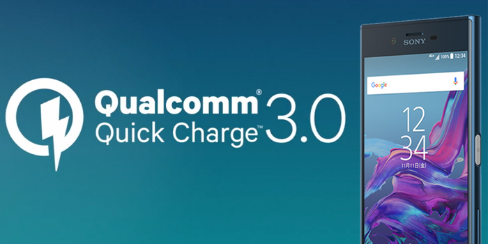 XPERIA XZ/XPERIA X Compactは、Quick Charge 3.0対応によって急速充電ができる