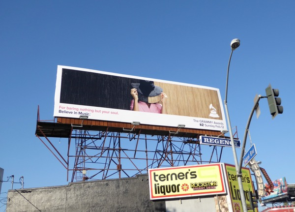Sia 59th Grammys billboard