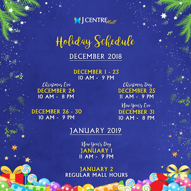 Holiday Mall Hours 2018 JCentre Mall Mandaue