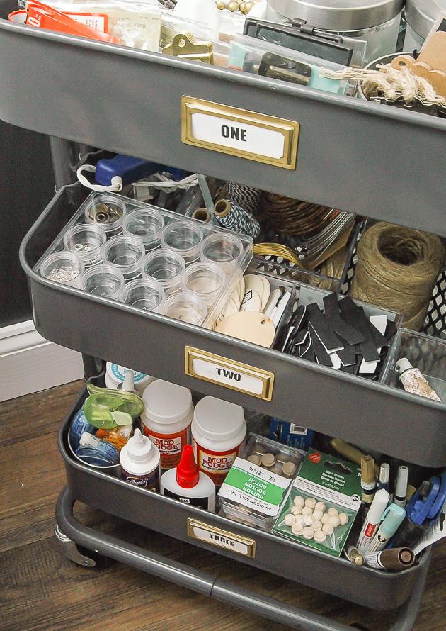 Ikea Raskog, craft cart, craft storage