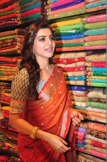 Actress Samantha Pictures in Saree at South India Shoping Mall Launch 0307
