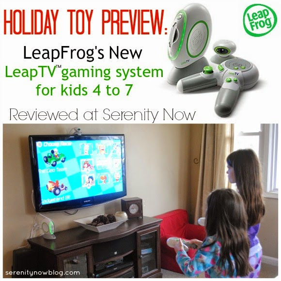 LeapFrog's LeapTV Gaming System for Kids (Holiday Toy Preview), from Serenity Now #leapfrog #leaptv