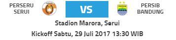 Prediksi Perseru Serui vs Persib Bandung - Sabtu 29 Juli 2017 Pkl 13.30 WIB
