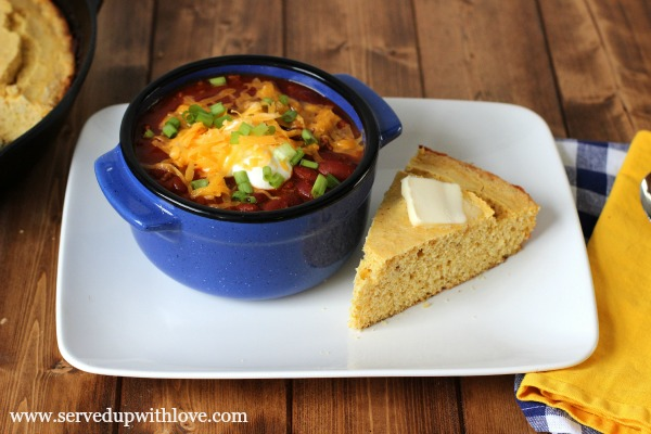 Easy Crock Pot Chili recipe from Served Up With Love