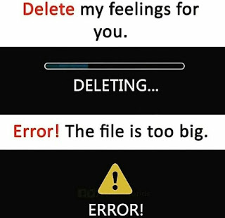 Delete my feelings for you .....Deleting....Error! the file is too big.