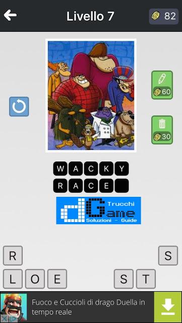 Anime Quiz soluzione pacchetto 7 livelli 1-12