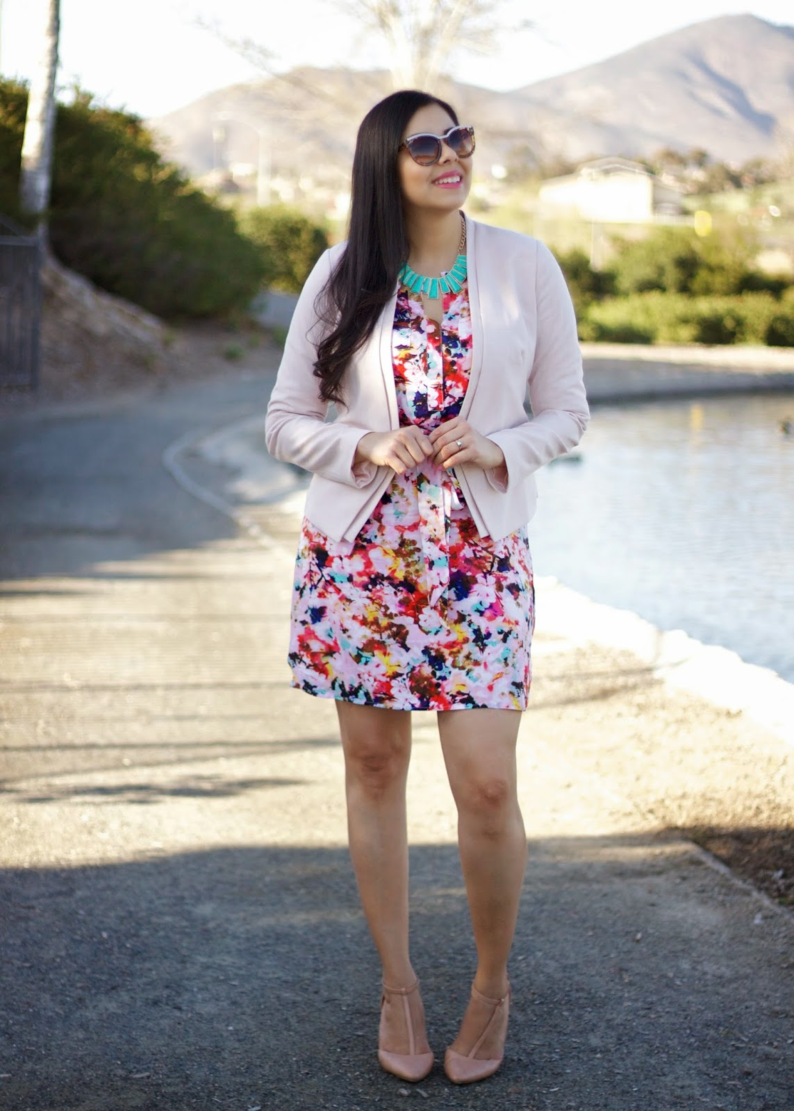 JCPenney dress, Pastels and Florals, Floral Dresses, San Diego Fashion Blogger, San Diego style blogger, blogger in san diego