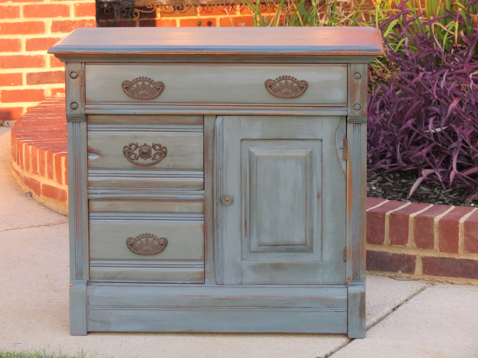 Milk Paint Painted Cabinets