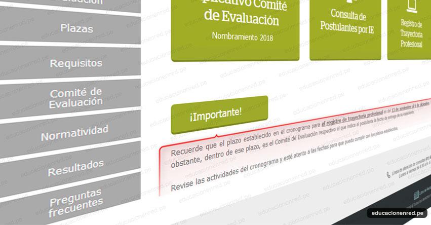 NOMBRAMIENTO DOCENTE: Precisiones sobre el Registro de Trayectoria Profesional [CRONOGRAMA] www.minedu.gob.pe