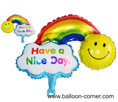 Balon Foil Have A Nice Day & Happy Birthday / Balon Foil Rainbow