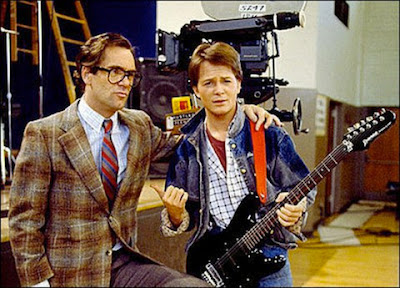 Huey Lewis and Michael J. Fox
