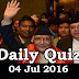 Daily Current Affairs Quiz - 04 Jul 2016