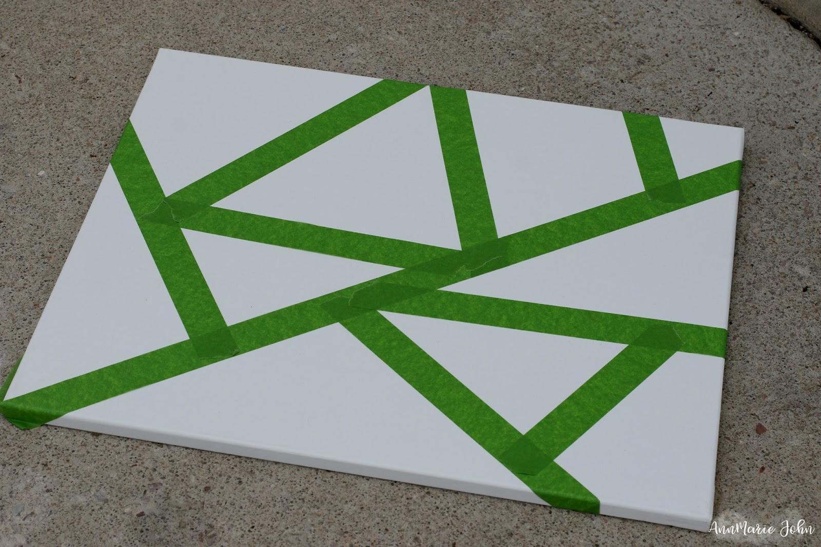 DIY Geometric Canvas Art: Paint Between the Lines ~ # ...