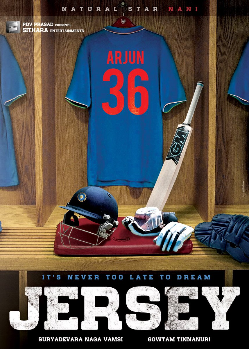Nani's Jersey Movie First Look Poster - Latest Movie