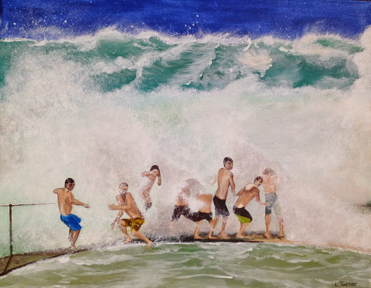 Big Surf at Bronte - Acrylic on Canvas