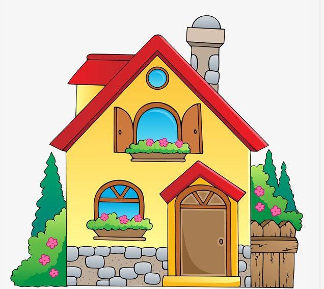 Gambar Rumah Sederhana Kartun Mudah