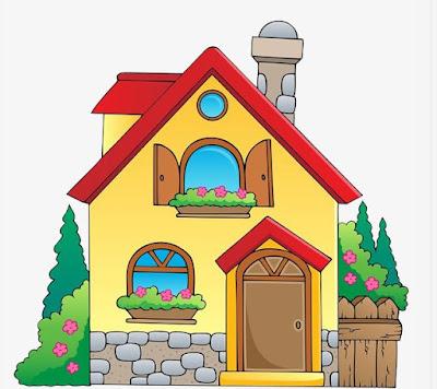 Gambar Rumah Kartun Lucu Sederhana