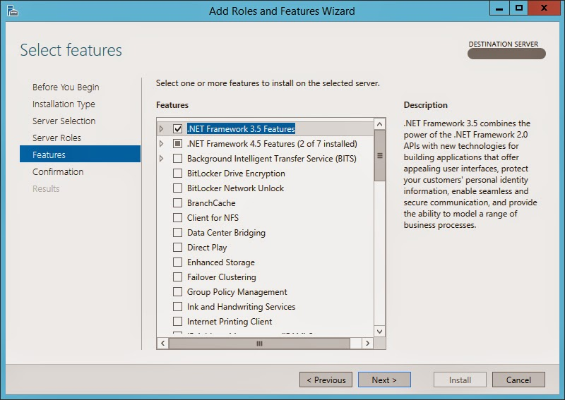 How to install NetFx3 on Windows Server 2012 R2 (Required by