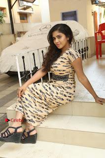 Telugu Actress Karunya Chowdary Stills in Short Dress at ATM Not Working Press Meet  0273.jpg