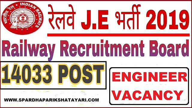 RRB Recruitment For Junior Engineer JE - 2019