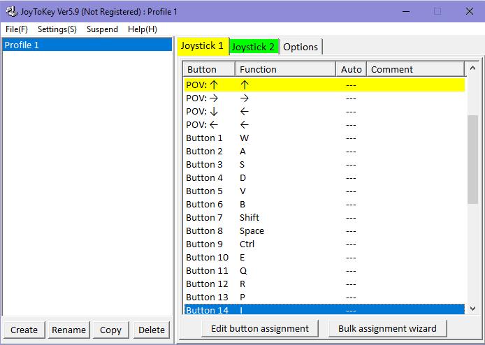Joytokey setting game