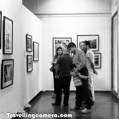 It was third day of the exhibition and overall response so far is amazing. Sunday was best day so far. Whole day was quite busy with some known personalities walking into the gallery and sharing their appreciation/feedback with individual artists. This Photo Journey shares some moments from the gallery which also includes photographs from the day when we setup the gallery for final show. Let's check out. Gallery was full of art lovers today and we loved interacting with folks from different walks of life.Here is a photograph when we were setting up the art-works in gallery on 7th March. It was one of the challenging thing to put photographs in best way, although we found some basic issues during inaugurationIt's lunch time. Canteen at Arpana Caur gallery is awesome. Mr. Mahavir cooks amazing food and I am loving each & every day at the gallery. Today was awesome day, when everyone of us had lunch together and had great fun. Mahavir had cooked Gatta-Curry for us. Thanks to Ravi for idea of having special lunch today with every ArtistSome of the friends turned up today and enjoyed the show. Friends are one of the main sources of motivation who push you to move forward in right direction. I feel great to have amazing friends around me. It was great to have Mr. Arvind Passey, Sangeeta Passey, Rakesh Lal, Alok Kumar Singh, Ashish Agrawal, Gunjeet Parmar, Prashant Srivastava, Karan Shekhawat, Fahad, Sanjay Das and Firoz at the exhibition today. It means a lot to come, see the work and share right feedback.Sunday was quite interesting when family members of some of the artists were at the gallery. All these moments bring lot of opportunities to mingle well with people around usHere is another photograph showing the art installation work and Ravi inspecting some finer details of installtion at gallery. Deciding on the display is one of the critical part and it can't be learned without actually doing it and failing in some aspects of it :) . On third day, I realized various things I took lightly and now learning some good lessonsGallery has decent setup and we love being there with our gadgets. Although most of the times, we have to be busy with guests visiting the exhibition.Ambika putting her art-work !!!During last three days, various senior photographers visited the gallery and shared some iimportant aspects which are more important for me.We have really a cool group of folks showing the work and we had fun while putting up work on 7th March. During the weekend, almost every photographer was in the gallery and we enjoyed each moment there.