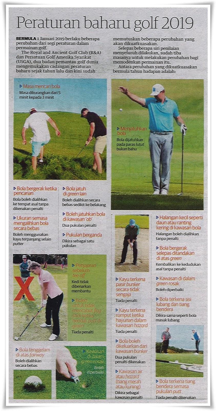 Peraturan Golf : peraturan, Jurnal, Shikin, Razali
