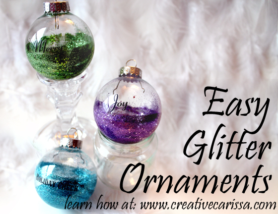 These Ornaments Are Quick And Easy To Make A Great Project Do With Kids Or Beginning Crafters The Blue Ornament In Photo Was Made By Nine