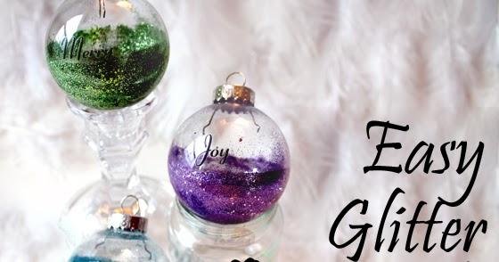 Make easy glittered bulb ornaments creative green living solutioingenieria Gallery