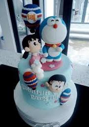 kue karakter Doraemon dan teman-teman